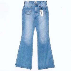 WRANGLER Women's Patch Pocket Flare Hippie Jeans